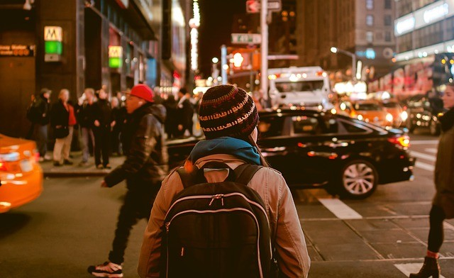 Walking around a city
