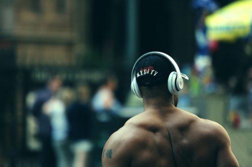 Image of man wearing beats headphones