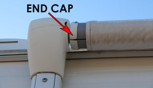 end cap of an RV awning