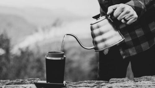Making coffee in a mug