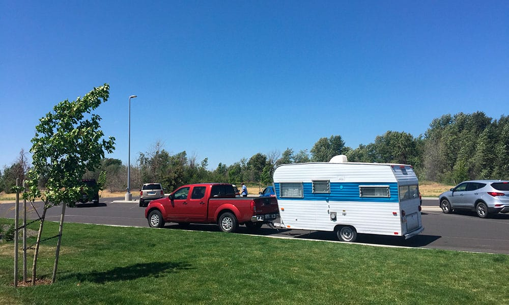 Even this small travel trailer should be using a weight distribution hitch.