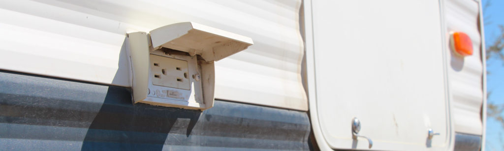 GFCI RV outlets on the outside of a travel trailer