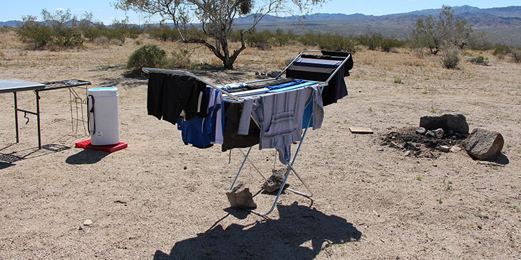 All of this laundry was done using only 7-gallons of water, and very little electicity (100 watt hours total).
