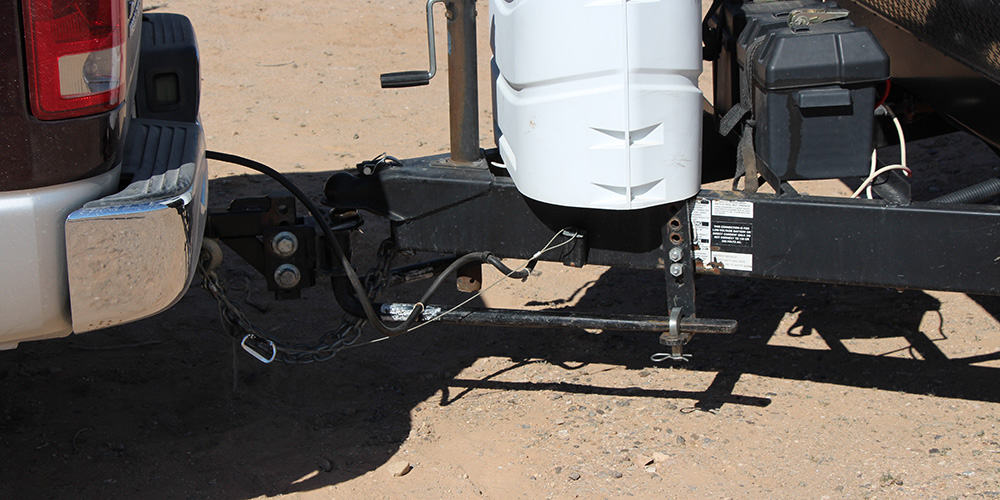 Weight distribution hitches with sway control are required for trailers over a certian weight.