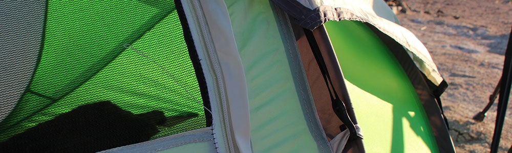 Simply unhook the outer shell to get some sun or star gaze in the Coleman pop-up tents.
