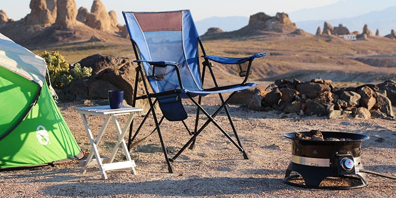 The Outland Firebowl portable propane fire pit is easy to set up and put away