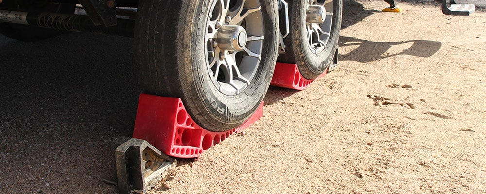 Even nice RV parks and campgrounds can have unlevel spots. Make sure you check before unhitching.