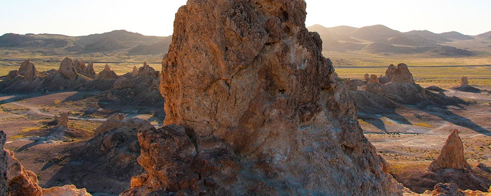 Tufa formation at the Trona Pinnacles.