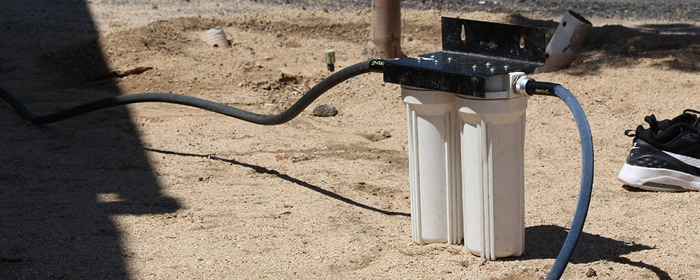 Inline RV water filters are highly recommened even when using water in RV parks.