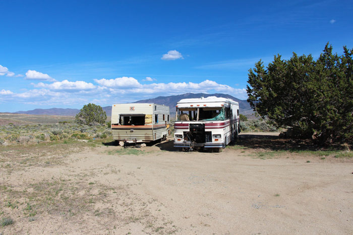 Abandoned RVs at Dayton-Virginia City BLM.