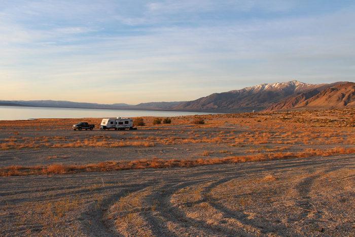 Mt Grant in the distance at Twenty Mile Beach, Walker Lake Nevada.