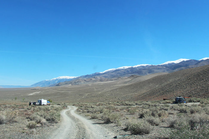 Large campsites at Silver Canyon BLM in BIshop, CA.