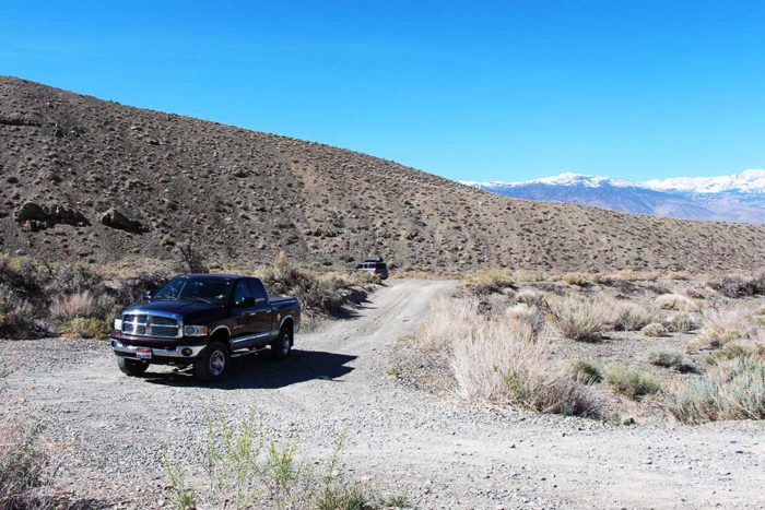 Large campsite at the end of Silver Canyon BLM near Bishop, CA.