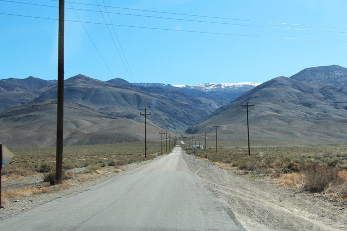 The part of Silver Canyon Road You can camp along.