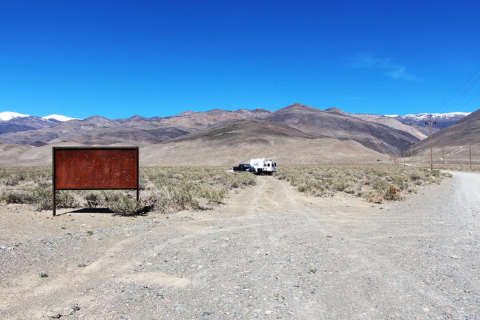 Campsite past the rusted out sign at Silver Canyon BLM.
