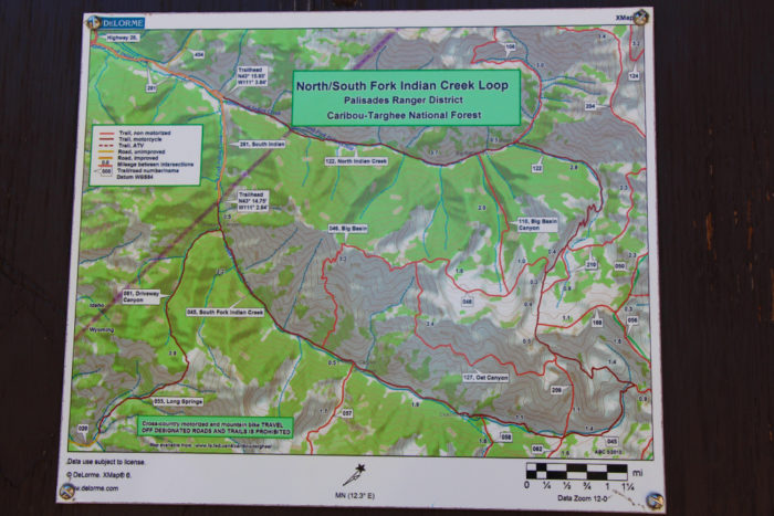 Maps of trails that start on Forest Road 281 in Idaho. They are for hiking, mountain biking, and motorcycles only.