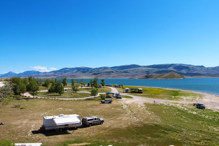 Picture of Beaverhead Campground taken from the dam.