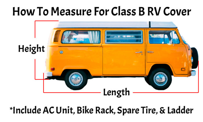 How to measure for a Class B RV cover.