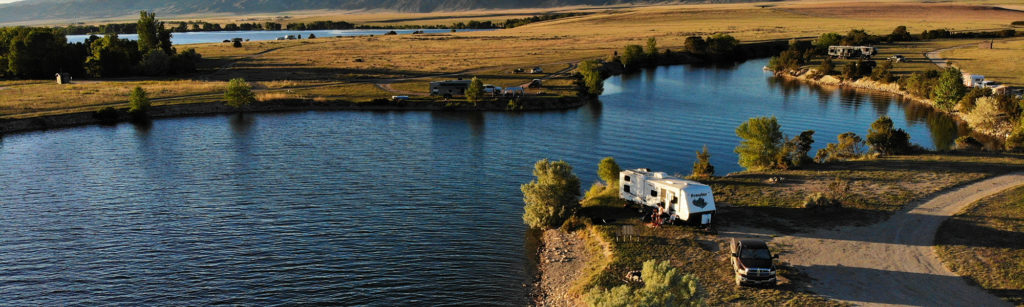 Free campsite at Goose Bay BLM by Canyon Ferry Lake Montana