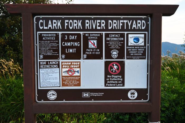 Clark Fork River DrftYard Rules.