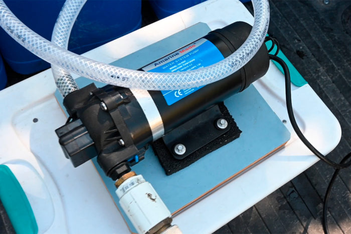 Our AC Amarine Made RV water pump.