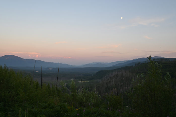 Evening view from Mcginnis Creek.