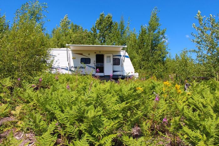 Our campsite at McGinnis Creek Montana near Glacier National Park.