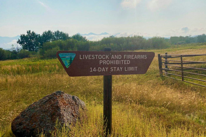 14 Day stay limit sign at Morgan Bar Recreation Area