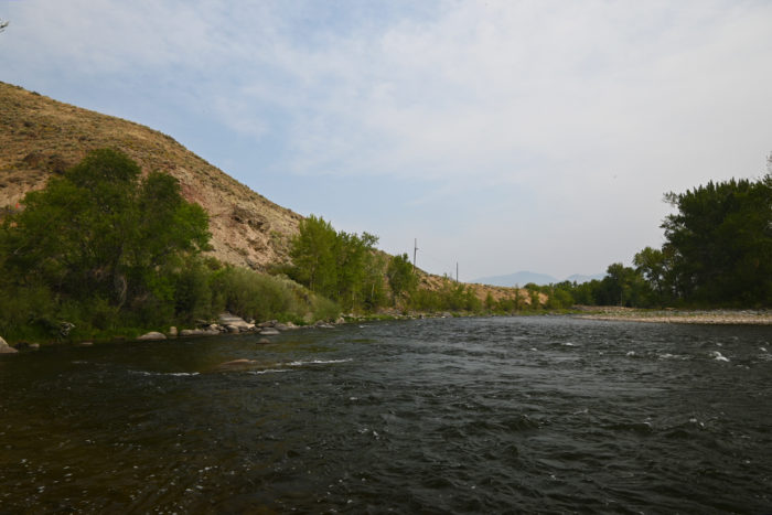 The Salmon River from our campsite at the Morgan Bar Recreation Area near Salmon, ID.