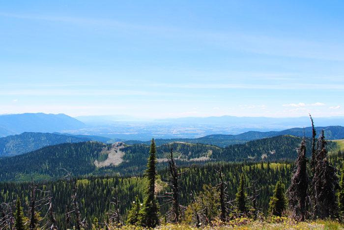 View of Kalispel & Flathead Lake from Standard Peak.