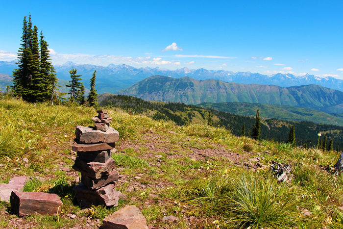 View of Rocky Mountains from Standard Peak.