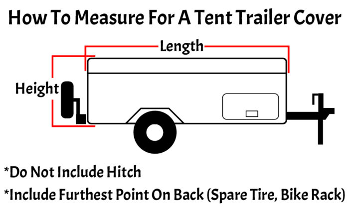 How to measure for a tent trailer RV cover.