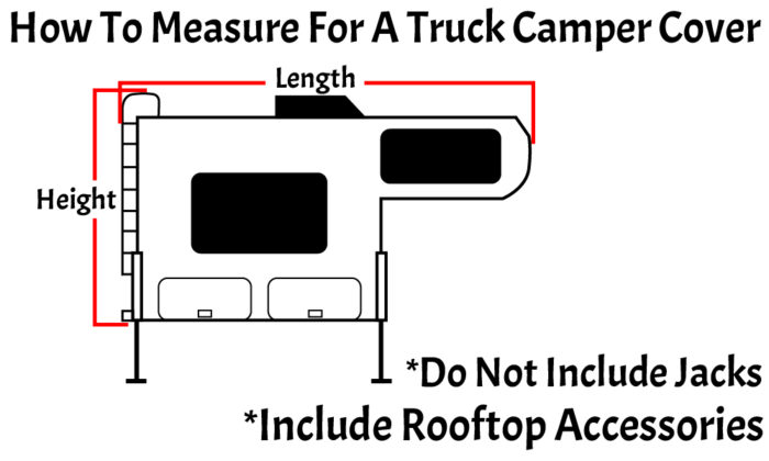 How to measure for a truck camper RV cover.
