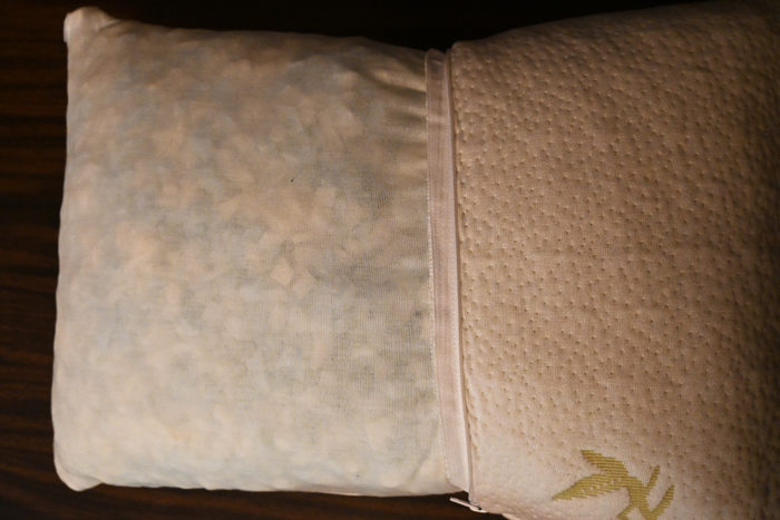 Inner pillow of the Outbright Memory Foam camping pillow.