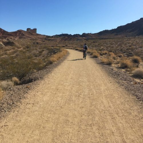 Part of the Historic Railroad Hike Trail that follows Lake Meade and ends at Hoover Dam.