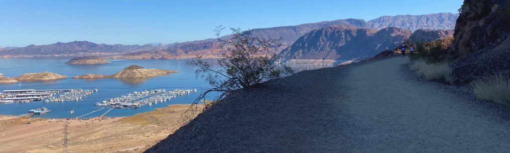 Lake Meade from the historic railroad hiking trail near Hoover Dam