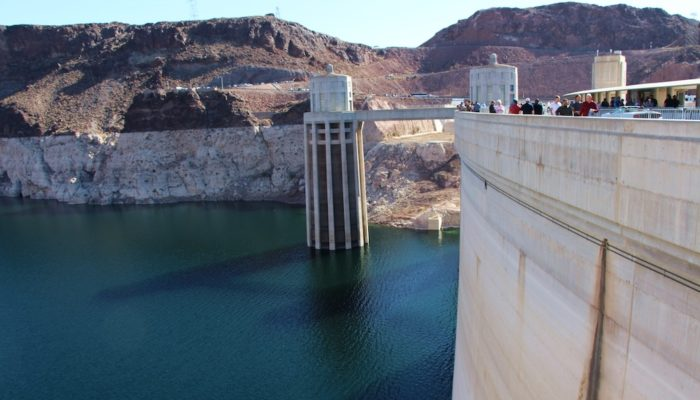 Hoover Dam from the Nevada side.