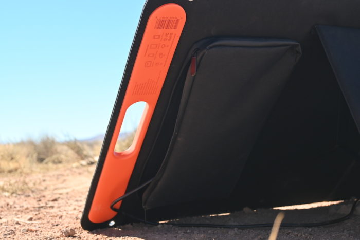 Zipper pocket on SolarSaga 100W