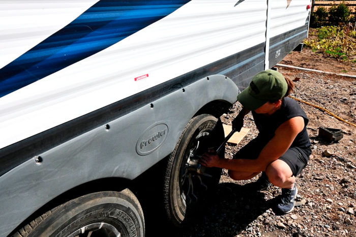 Finish by tighening the lug nuts to the proper torque.