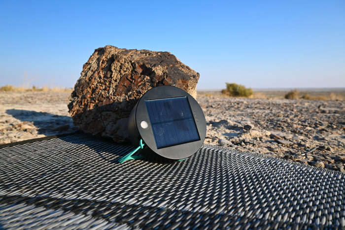 It takes around 16 hours for the battry to fully charge using the solar panel on the base of the Luci.