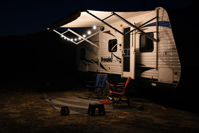 The Luci solar string lights are easy to hang up, take down, and store in an organized way.