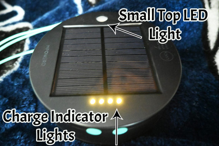 The top of the Luci solar sting light base.