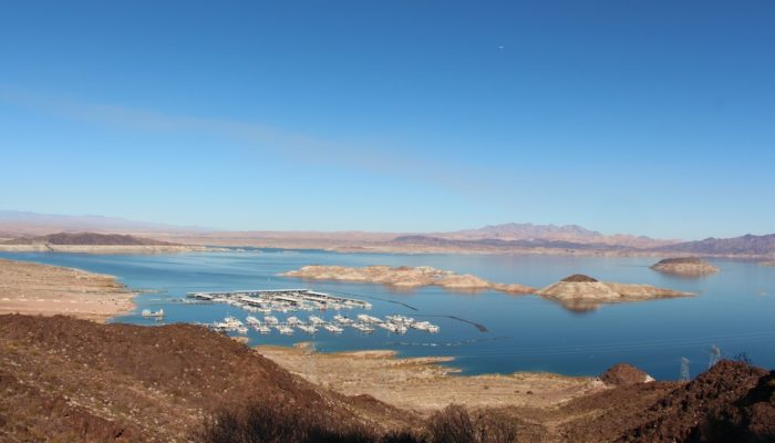 View of Lake Meade from the Historic Railroad Hike Trail near Las Vegas, Nevada.
