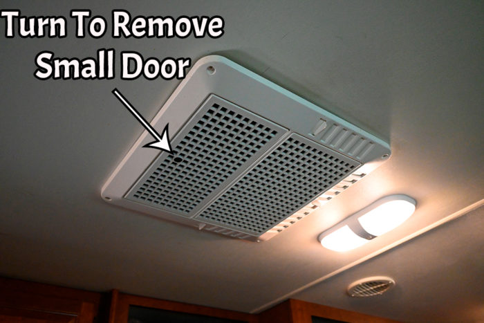 Inner RV AC cover that needs to be removed in order to replace the RV AC with a vent or skylight