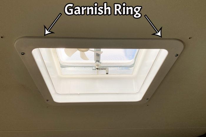 RV garnish ring for inside of RV.