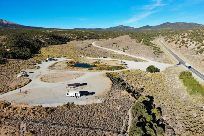 First 6 campsites at Sacramento Pass Recreation Area near Great Basin National Park in Nevada.