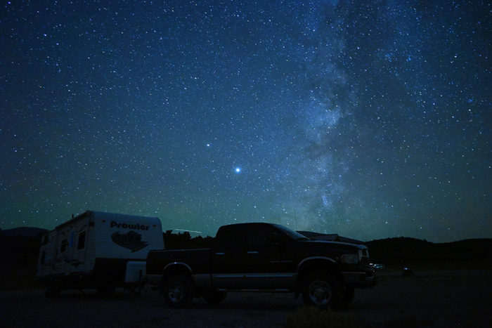 Amazing night sky at Sacramento Pass Campground near Great Basin National Park.