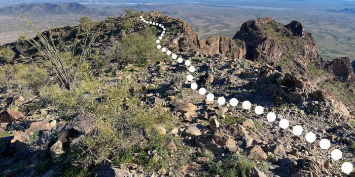 Trail leading the rest of the way to the top of Saddle Mountain near Tonopah Arizona.