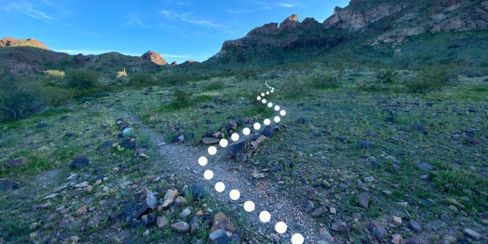 First turn on the Saddle Mountain Peak hike near Phoenix Arizona.