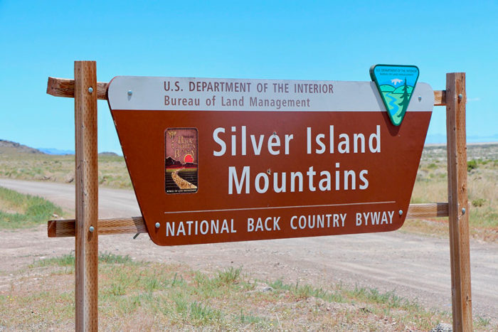 Silver Island Mountains Recreation Area Entrance Sign